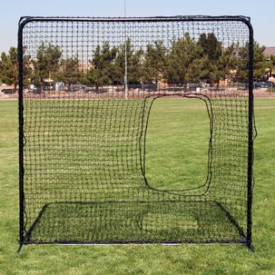 Square Screen with Softball Pitcher's Net
