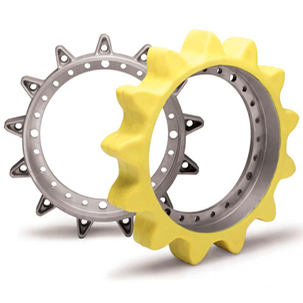 Yellow Molded Sprockets